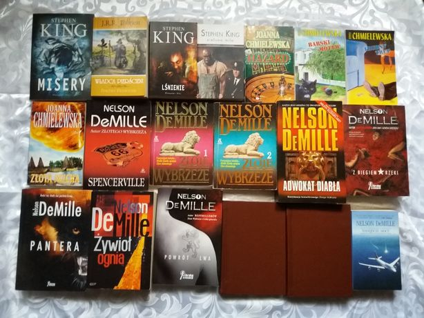 stephen King Nelson DeMille Chmielewska Tolkien - Misery, Lśnienie itp