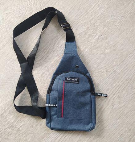 Сумка через плечо, рюкзак однолямочный маленький