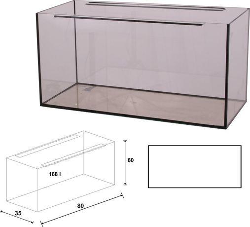 Akwarium 80x35x60 proste 170 litrów