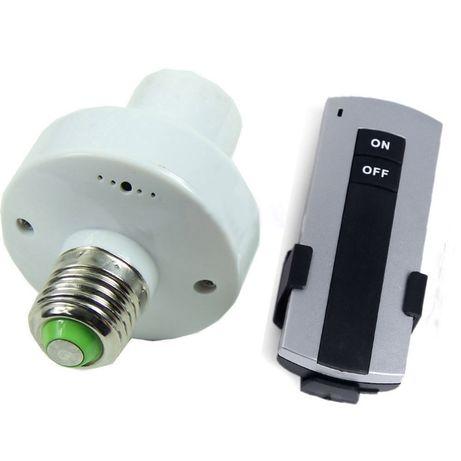 Controlador interruptor remoto wireless lâmpada casquilho e27