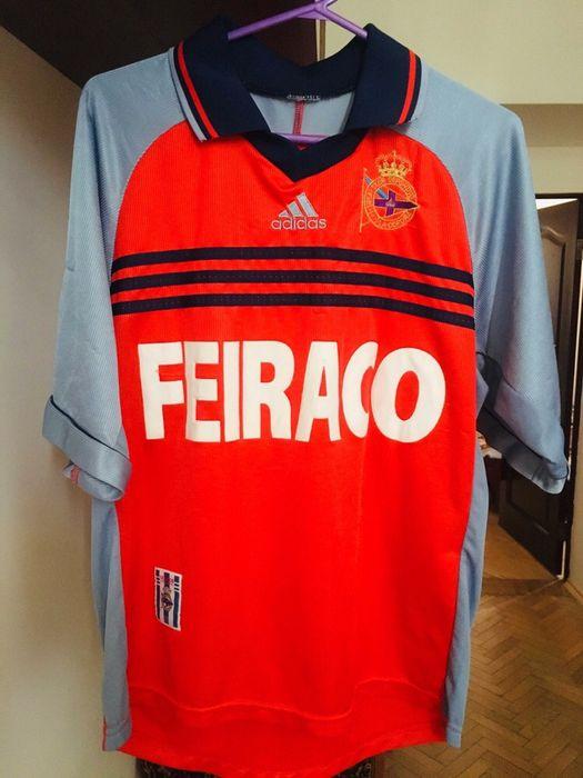 Vintage Adidas Deportivo La Coruna Football Shirt Jersey Колодница - изображение 1