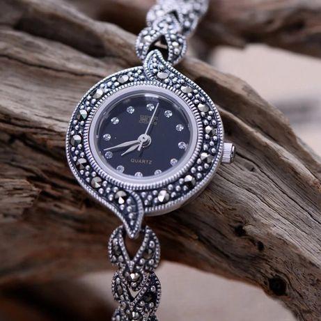 Женские Часы 100% Чистое Стерлинг Серебро