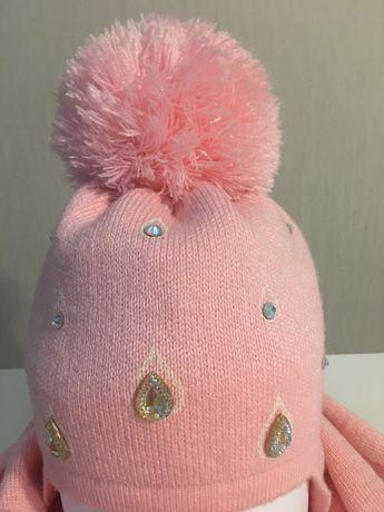 Демисезонная шапка и шарф Комплект Новый