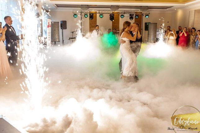 Obcykani - ciężki dym, fontanny iskier, napis MIŁOŚĆ, fotobudka