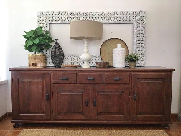 aparador, consola, armario, louceiro, vintage, rustico