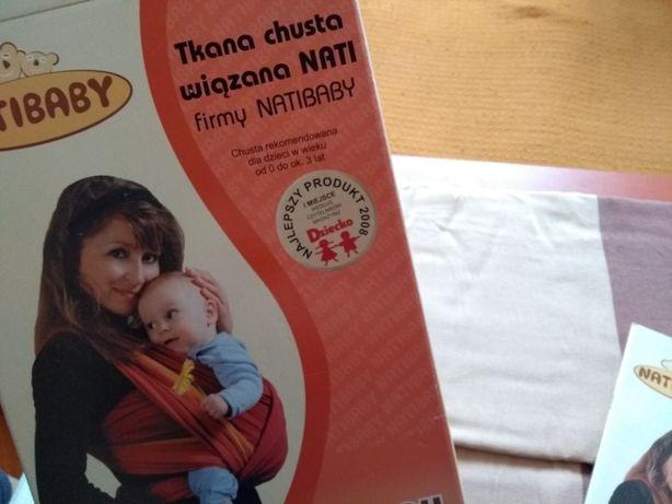 Chusta Natibaby, do noszenia dzieci, rozmiar stand. 100% bawełny!
