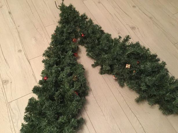 Girlanda świąteczna, dwa ramiona po 1,6 m, gęsta