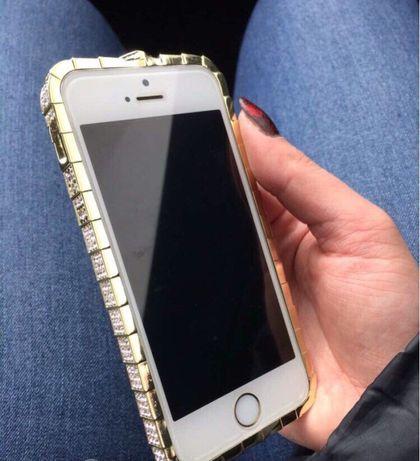 Золотой металлический бампер с камнями для iphone 5/5s Fashion Snake