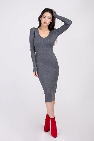 Платье резинка.платье миди.платье футляр