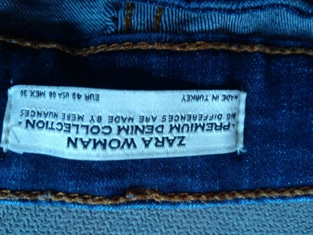 Jeansy ZARA, dżinsy rurki, spodnie damskie