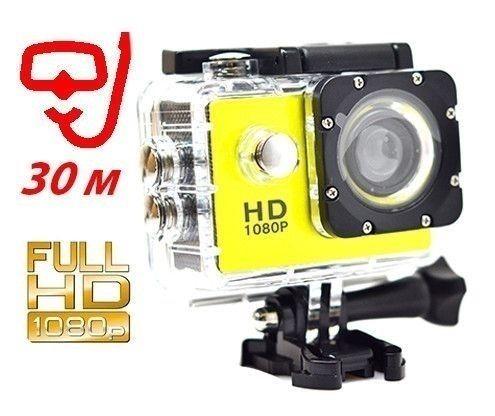 Экшн камера A7 FullHD + аквабокс + Регистратор, компект+крепление