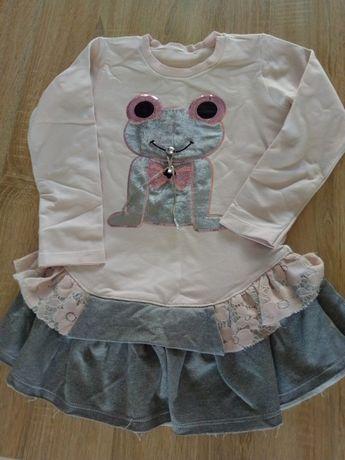 Sukienka 110/116 dla dziewczynki