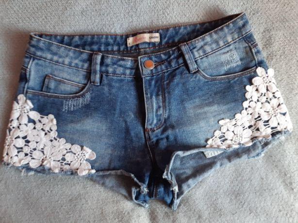 Dżinsowe szorty z haftem