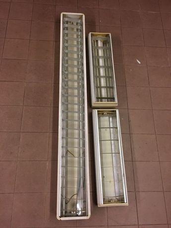 1 Armadura para lâmpada fluorescente