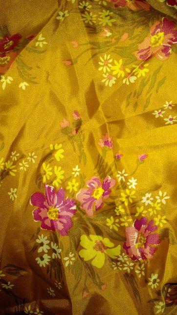 Отрез ткань ацетатный шелк СССР для рукодельниц
