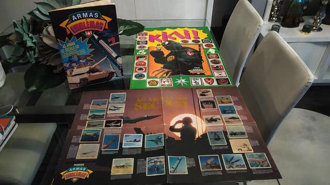 caderneta rara ARMAS E EMBLEMAS + 2 SUPER POSTERS - 1991