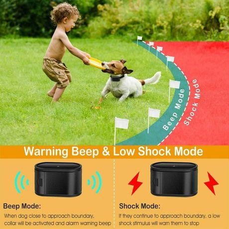 Cerca vedação elétrica para cães nova afasta o cão do perímetro