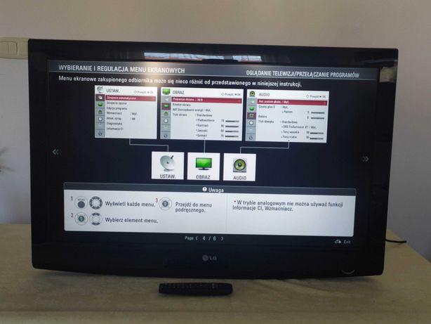 Telewizor LG 37 cali full hd, uchwyt, pilot, nóżka