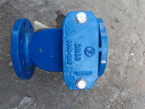 Продаётся клапан обратный, фланцевый ДН 80 с резиновым затвором.