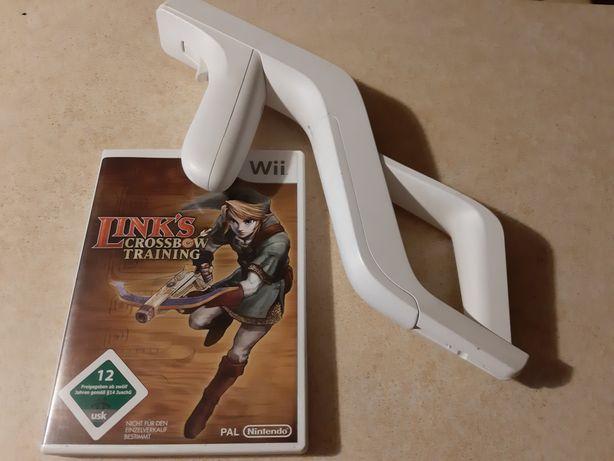 Oryginalny pistolet do gry Nintendo Wii + gra Links