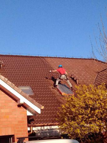 malowanie dachów, mycie impregnacja dachu,mycie hal przemysłowych,hali