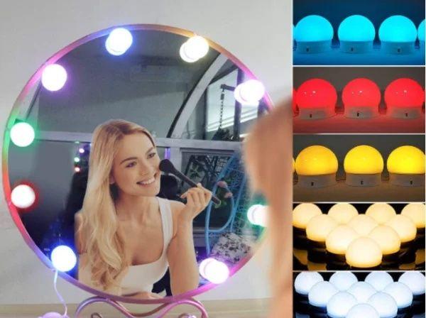 Топ Подсветка для зеркала с регулировкой яркости для макияжа