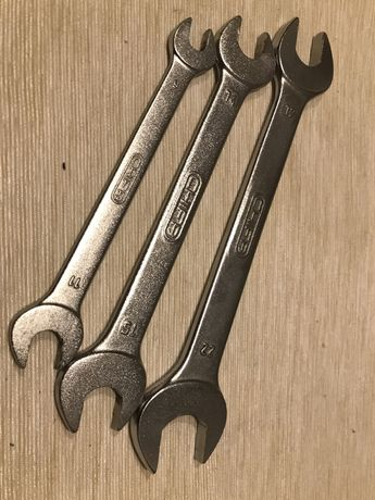 3 klucze płaskie CHIFA RWPd, stan bdb