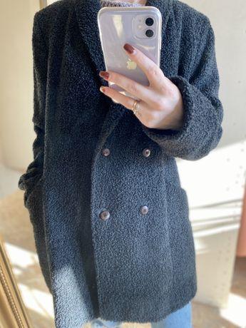 Пальто-пиджак, двубортное, чебурашка