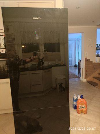 drzwi do lodówki BEKO czarne szkło szer 70cm, wys 192c