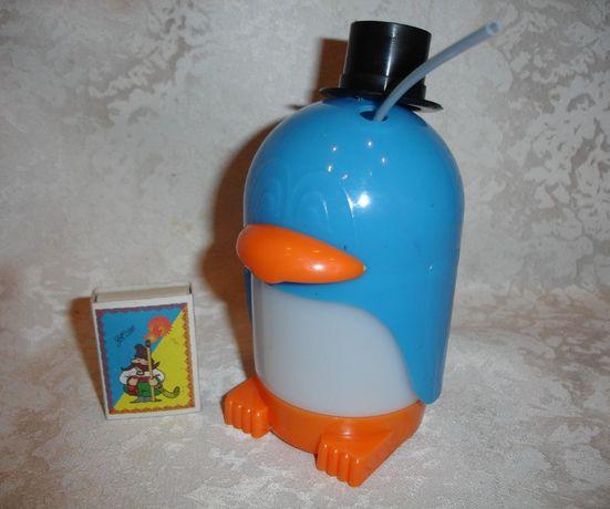 """Стакан/склянка на 250 мл з трубочкою для дітей """"ПІНГВІН""""; НОВА"""