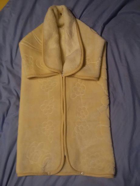 Конверт одеяло на выписку теплый