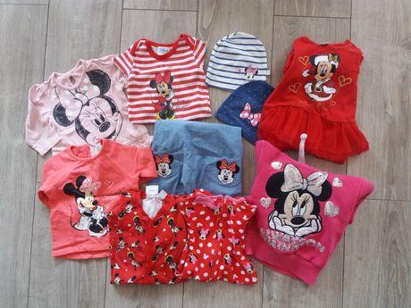 Ubranka dla małej fanki Myszki Mickey zestaw 10szt 62cm-86cm