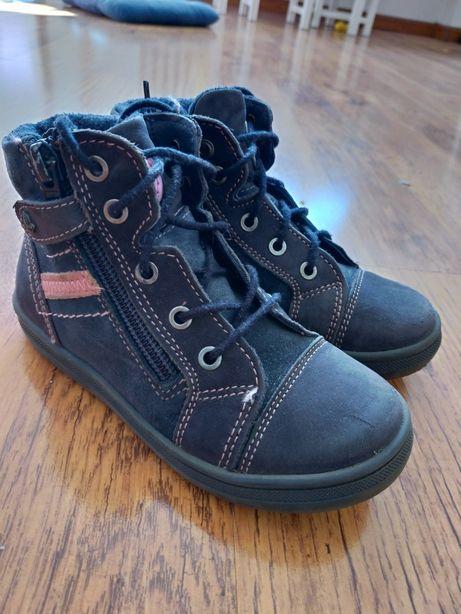Skórzane buty przejściowe dla dziewczynki r.27 CCC Lasocki