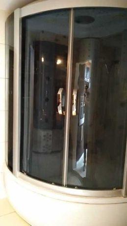 Дешево Гидромассажный бокс с джакузи угловой 130х130х217см.