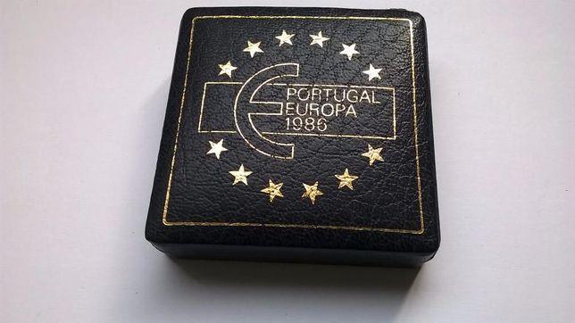 Moeda de 25$00 Portugal-Europa 1986, em Prata PROOF em caixa da INCM.