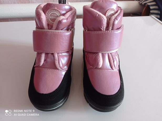Зимние сапожки для девочки, стелька  16 см.
