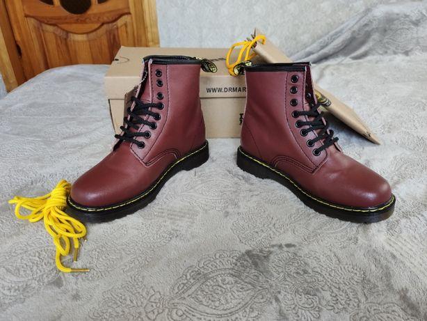 Зимние Кожаные Ботинки Dr. Martens