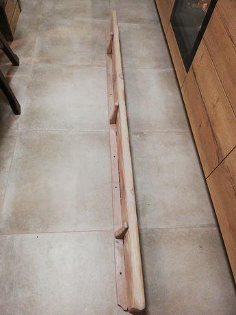 Półka sosnowa w kolorze perlowo szarym 195 cm
