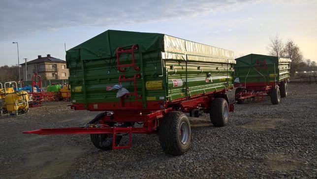 """Przyczepa dwuosiowa 8 ton PRONAR T672 """"od ręki"""" transport gratis"""