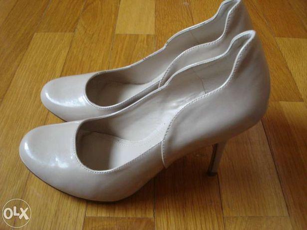 Sapatos beges pele Aldo T.37