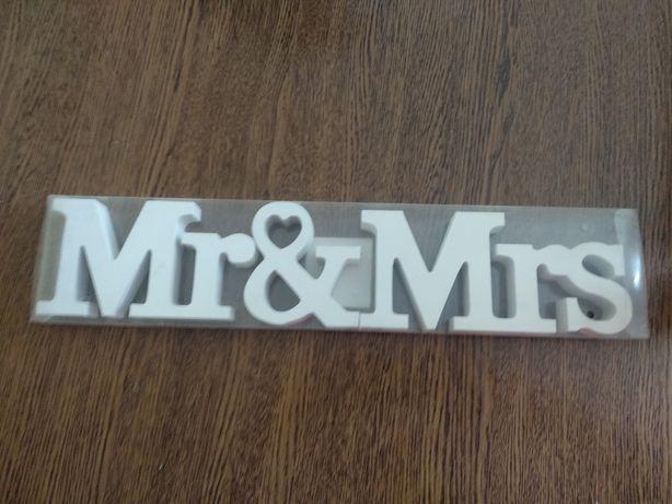 Napis na wesele Mr&Mrs