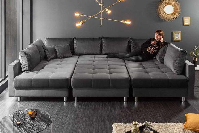 Duży i wygodny Narożnik PRINCE sofa funkcja spania PRODUCENT sprężyny