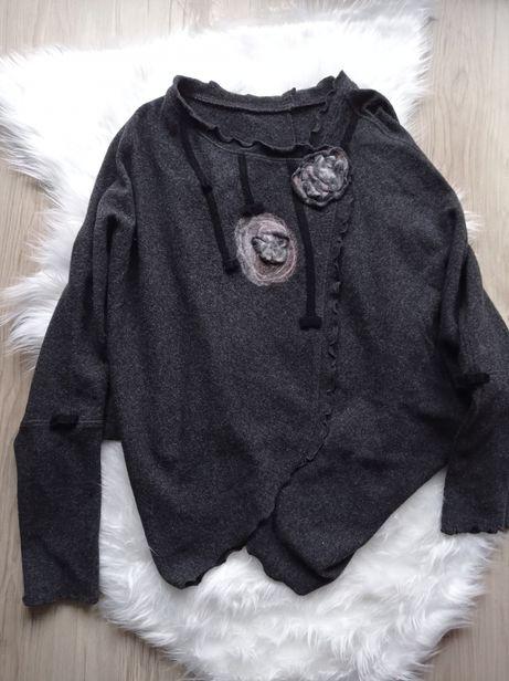 Narzutka kardigan nietoperz sweterek XXL