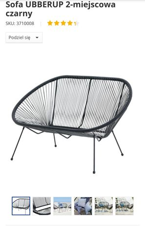 Dwuosobowa sofa plecionka