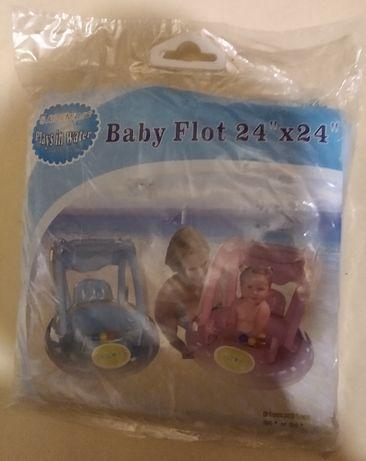 """Надувной круг """"Baby Float"""" с навесом"""