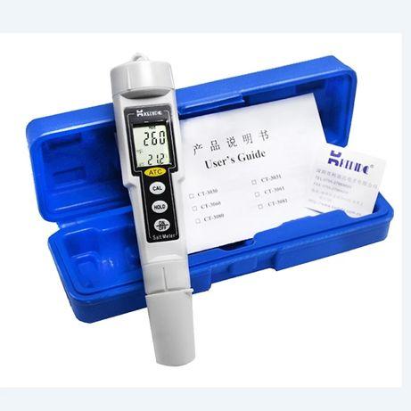 Medidor de precisão 0-9999 mg/l água piscina sal aquário etc