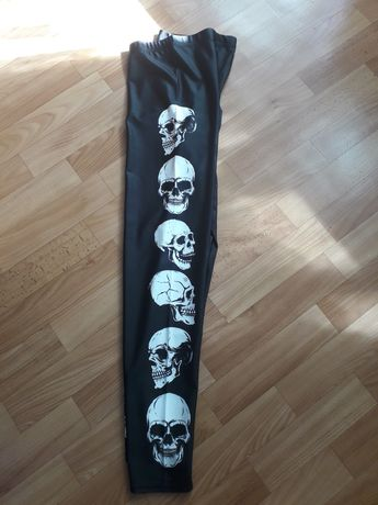 L. Legginsy leginsy czaszka czaszki Rock Halloween