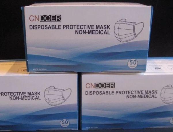 Máscaras descartáveis - cx com 50 unidades