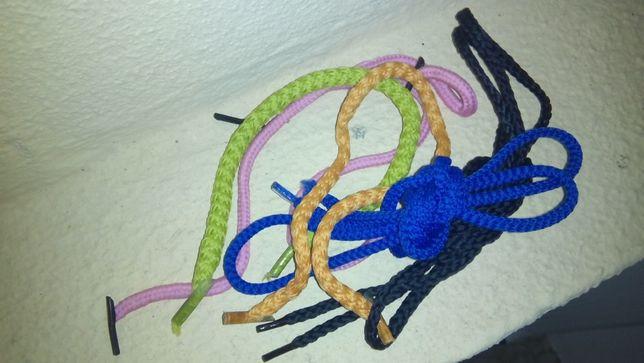 Lote cordas e cordões coloridos