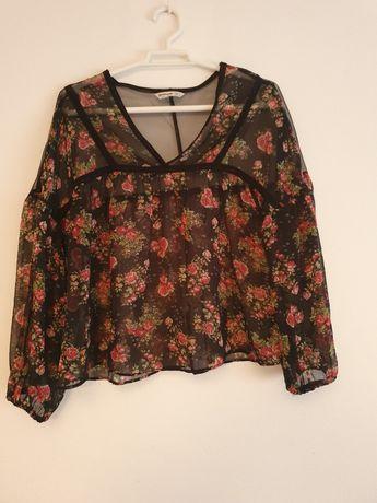 Blusa Floral de Rede